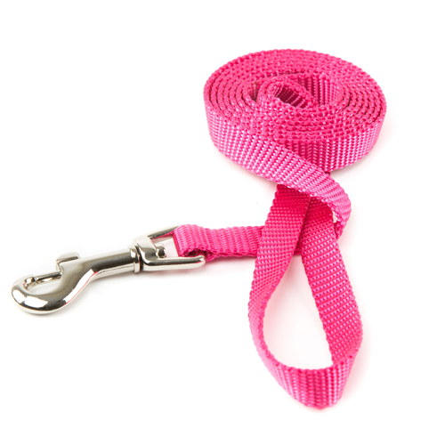 Trela para cães de Nylon linha Basic Cor Rosa
