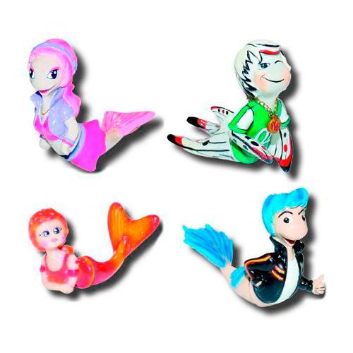 Figuras decorativas magnéticas coloridas Peixes