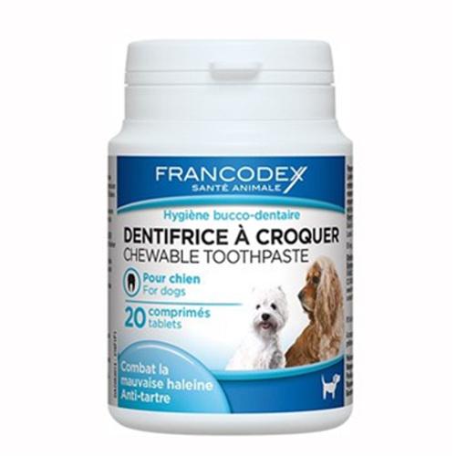 Dentífrico para cães em pastilhas mastigáveis Francodex