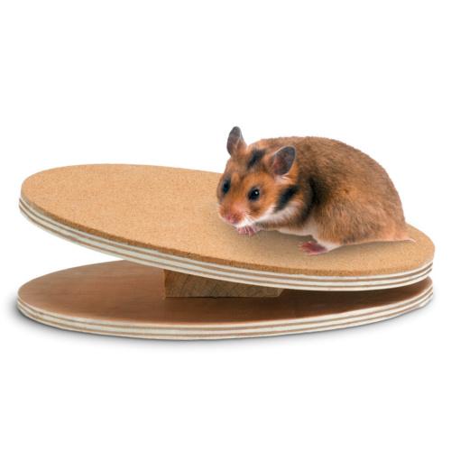 Disco de exercício de madeira para roedores Bogie