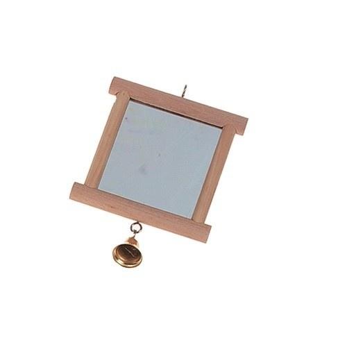 Espelho de madeira para pássaros