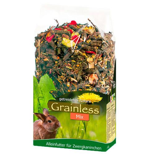 JR Farm Grainless Mix ervas prensadas para coelhos anões