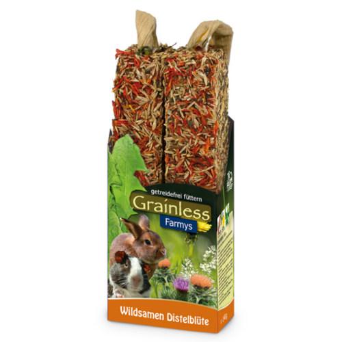 JR Farm Grainless Farmys barritas com flor de cardo para roedores e coelhos