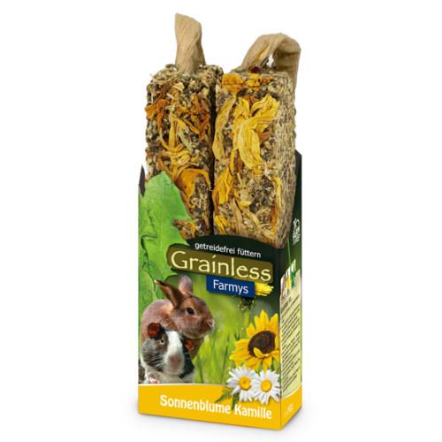 JR Farm Grainless Farmys barritas light com girassol para roedores e coelhos