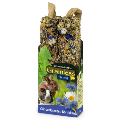 JR Farm Grainless Farmys barritas com margarida para roedores e coelhos