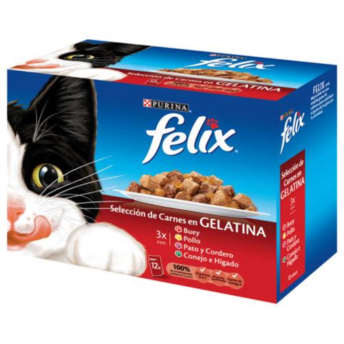 Felix Seleção de carnes em gelatina multipack para gatos