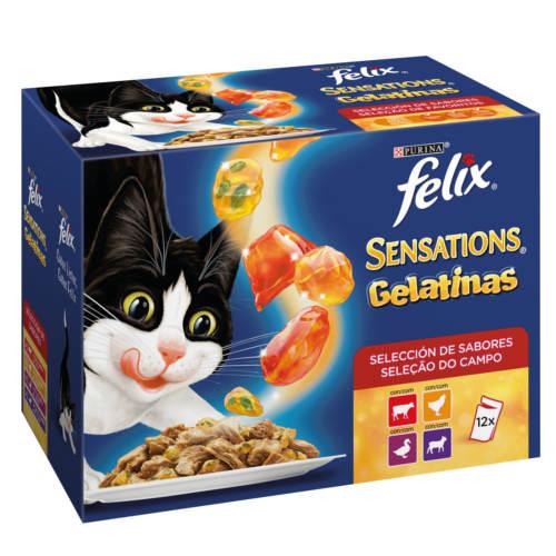 Felix Sensations Gelatinas com carnes seleção de sabores