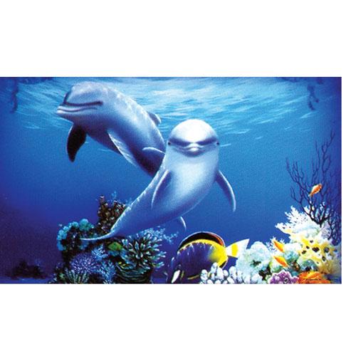 Fondo en 3D para acuarios Póster Golfinhos
