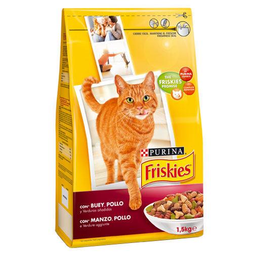 Friskies gato adulto com Boy, Fígado e vegetais