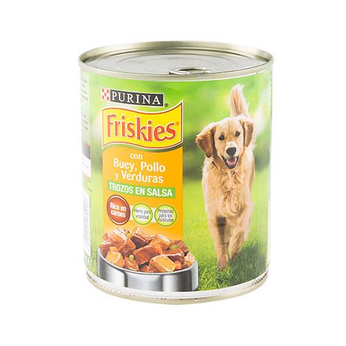 Friskies Boi  Paté com pedaços em molho comida para cães