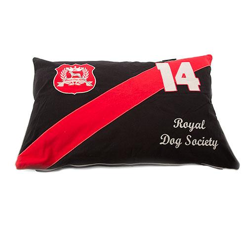 Funda de cama para cães Classic algodão cor preto