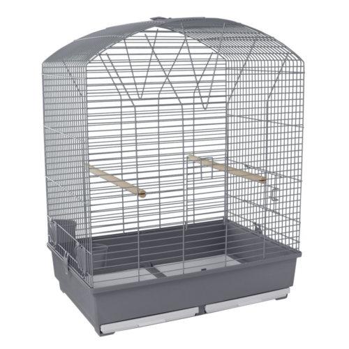 Gaiola para agapornis e papagaio pequeno tecto curvado