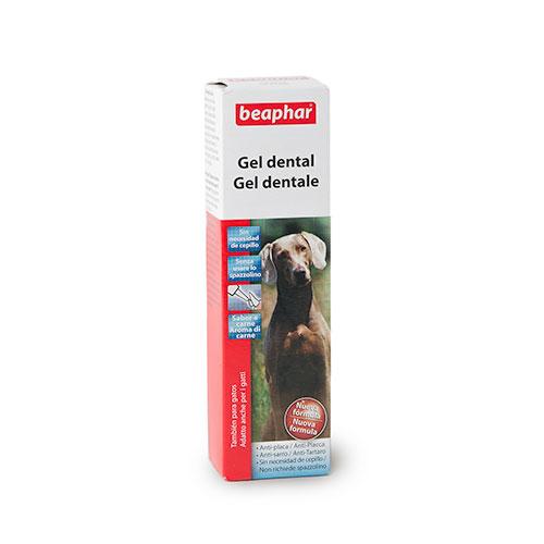 Gel dentífrico auto-limpador desinfectante para cães Beaphar