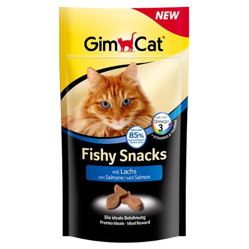 GimCat Fishy snacks para gatos com salmão