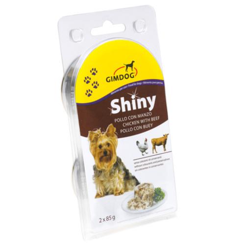 GimDog Shiny Dog comida húmida para cães de frango com carne de vaca