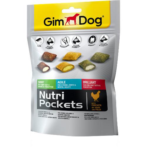 Snacks para cães GimDog Nutri Pockets misto