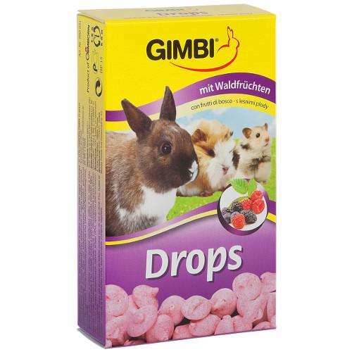 Snacks para roedores Gimbi Drops frutas do bosque