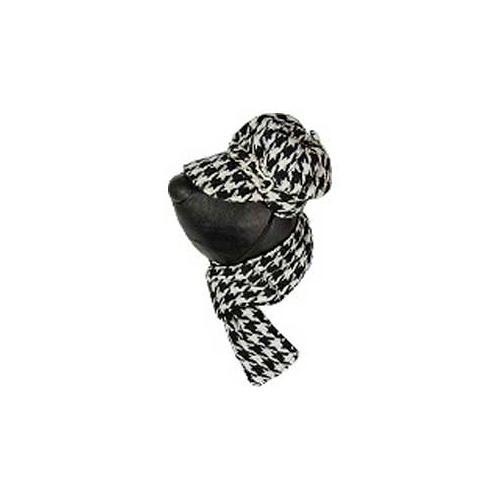 .Conjunto de chapéu e cachecol pretos para cães