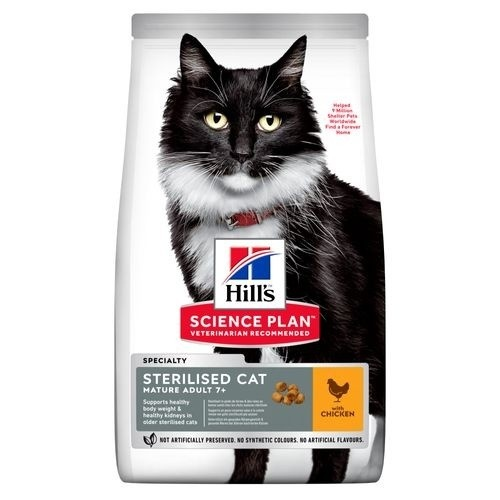 Hill's Feline Mature Adult 7+ Sterilised Cat Frango