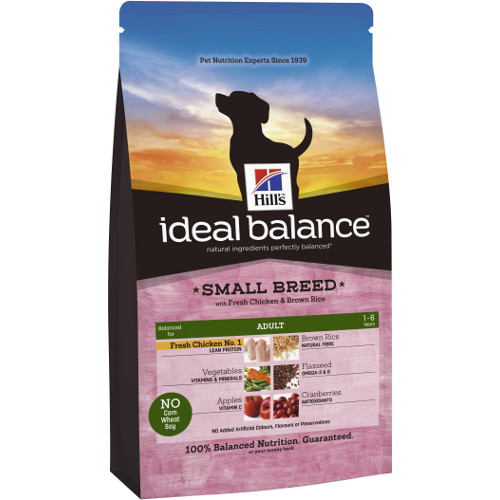 Hill's Ideal Balance Adult Small Breed ração para cães com frango e arroz