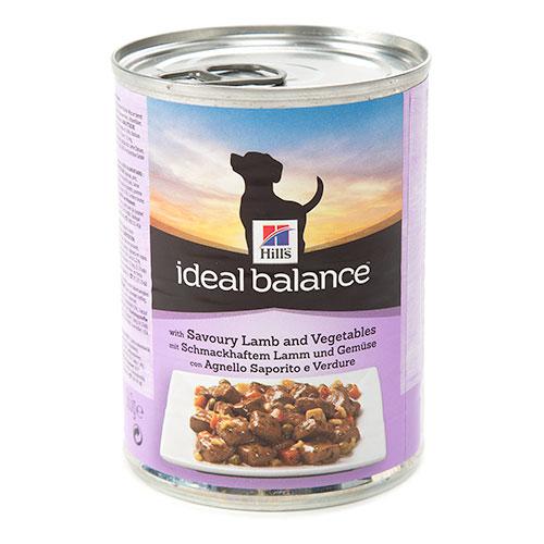 Hill's Ideal Balance comida húmida para cães com cordeiro e legumes