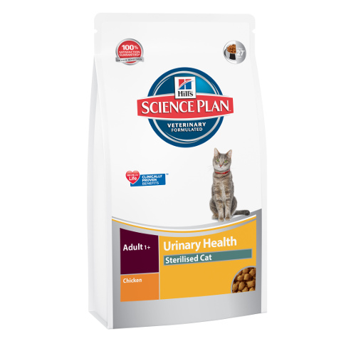 Hill´s Science Plan Urinary Health Sterelised ração para gatos esterilizados sabor frango