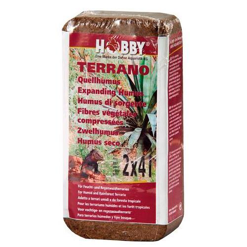 Húmus seco comprimido natural de fibra de coco