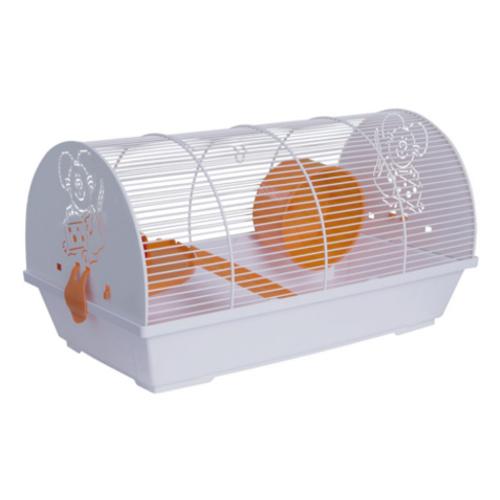Jaula para hamster arqueada com laterais decoradas