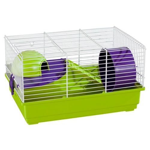Jaula para hamster pequena rectangular com escadas