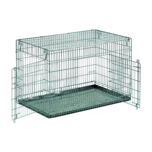 Jaula de metal dobrável para transporte e alojamento de cães