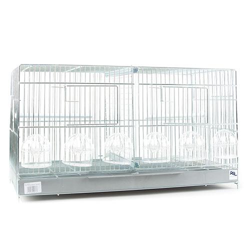 Gaiola de cria para pássaros 2 compartimentos