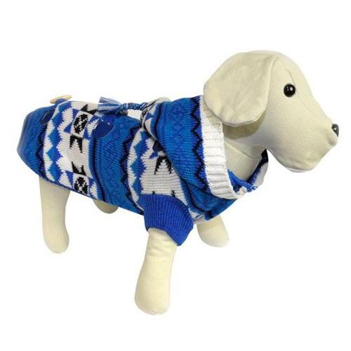 Camisola de lã estampada étnica Azul