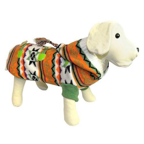Camisola de lã estampada étnica Laranja