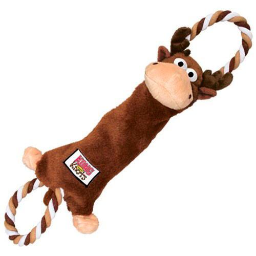 Kong Tugger Knots Peluche Alce com corda para cães