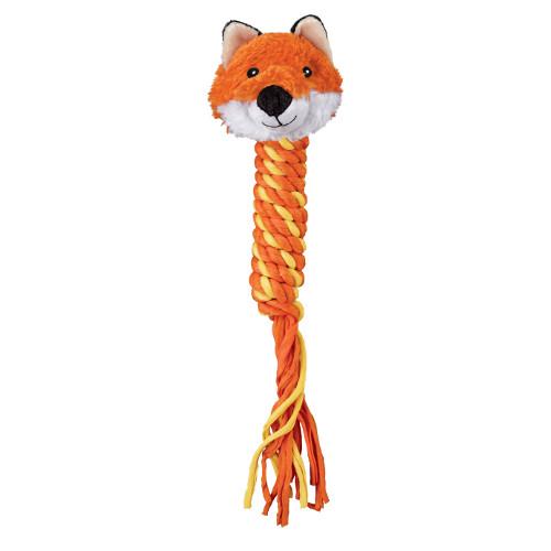 Kong Winder Fox brinquedo com corda para cães