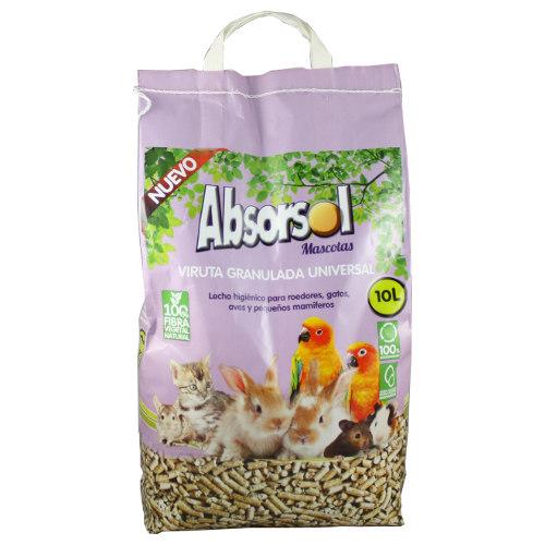 Leito de madeira para animais de estimação Absorsol em pellets