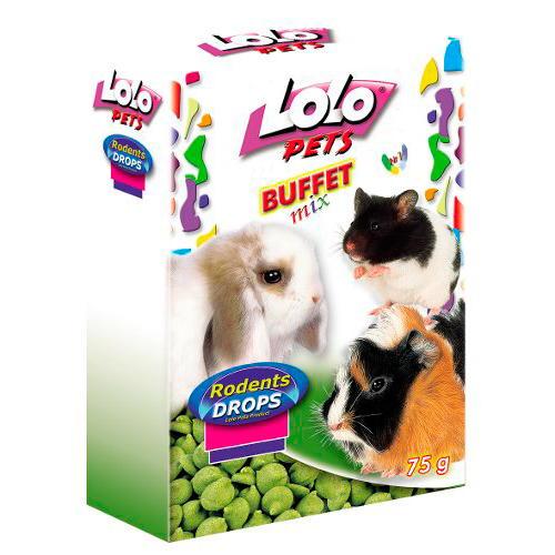 Lolo Pets Buffet Mix Drops guloseimas para Roedores