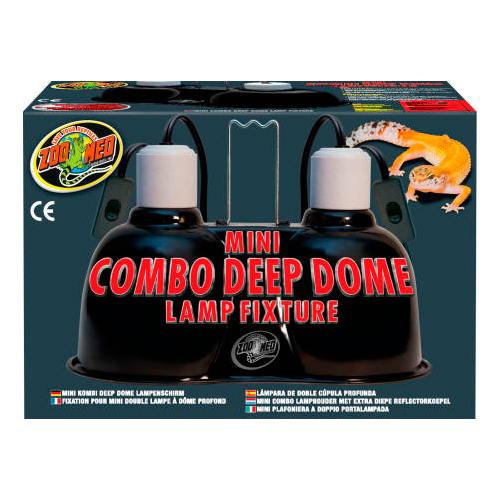 Porta-lâmpada duplo de cúpula profunda Zoo Med