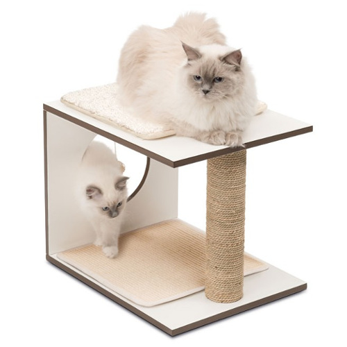 Móvel arranhador para gatos V-Stool Vesper branco