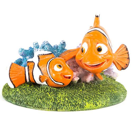 Figura Nemo e Marlin adorno aquários