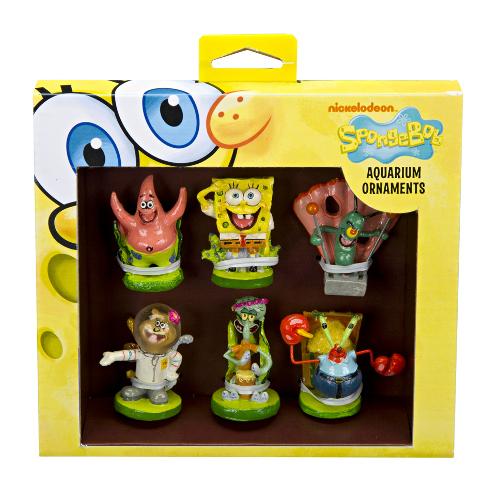 Bob esponja pack de 6 Figura decoração aquários