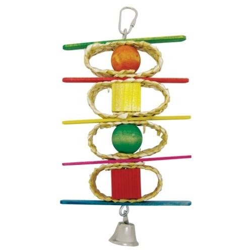 Brinquedo Natural Kabob para papagaios