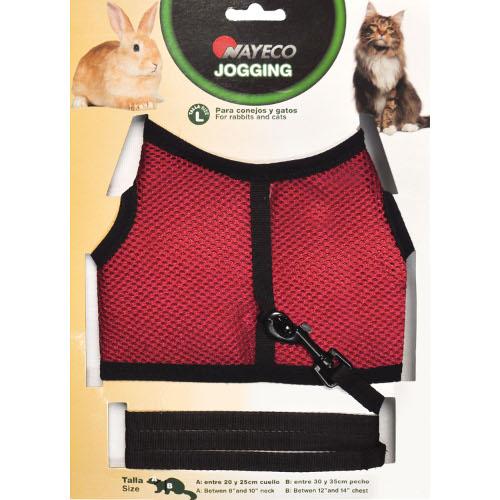 Arnês para gatos e coelhos Jogging tamanho L