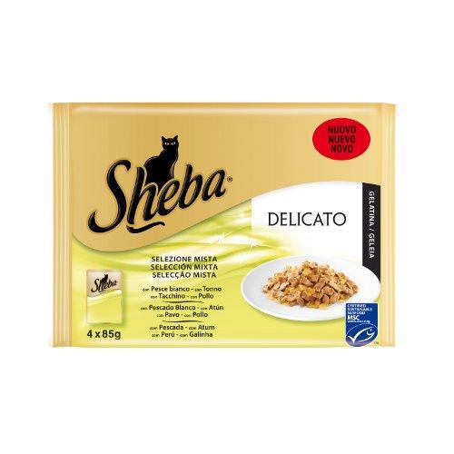 Alimento húmido para gatos Sheba Mix peixe e carne