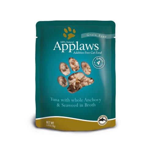 Comida húmida para gatos Applaws Pouch com sabor a atum e anchov