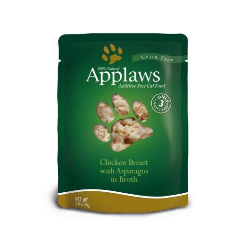 Comida húmida para gatos Applaws Pouch frango e aspargos