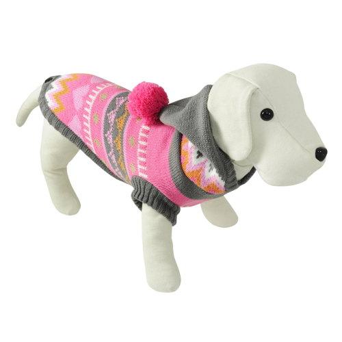 Suéter de tricô com capuz para cães Alpes