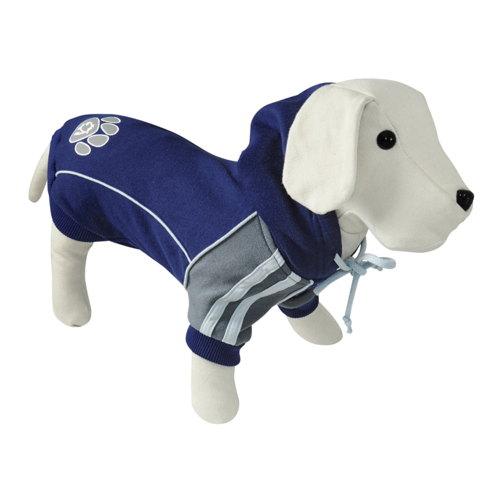 Suéter para cães com pegada cor marinho