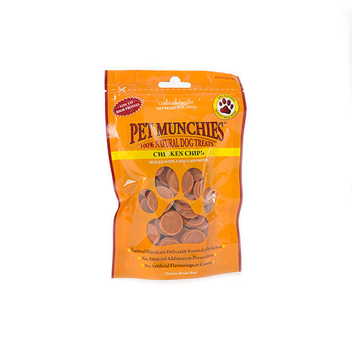 Snacks para cães Pet Munchies Chicken Chips rodelas de frango