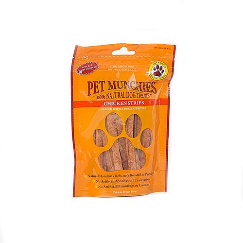 Snacks para perros Pet Munchies Chicken Strips tiras de frango